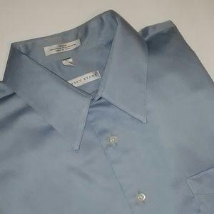 Geoffrey Beene sateen shirt size XL